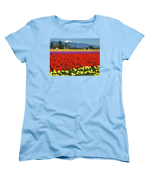 Skagit Valley Tulip Fields Women's T-Shirt (Standard Cut)