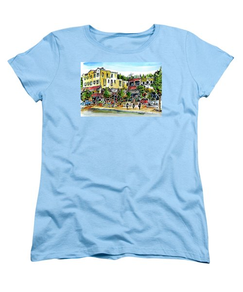 Women's T-Shirt (Standard Cut) featuring the painting Sketch Crawl In Truckee by Terry Banderas