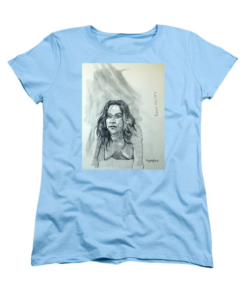 Women's T-Shirt (Standard Cut) featuring the painting Sketch For Sera.10.01 by Ray Agius