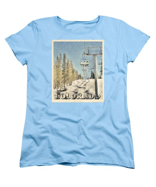 Ski Colorado Women's T-Shirt (Standard Cut) by Juli Scalzi