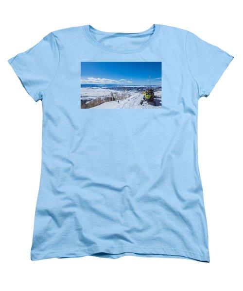 Ski Patrol Women's T-Shirt (Standard Cut) by Sean Allen