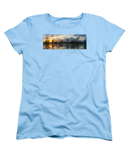 Skies Across The North End Women's T-Shirt (Standard Cut) by Kimo Fernandez