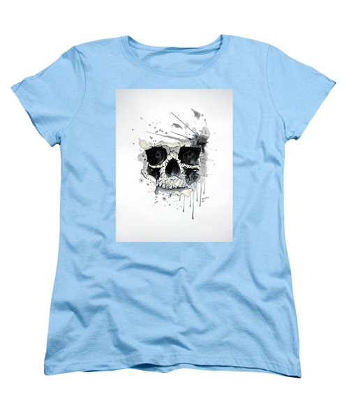 Women's T-Shirt (Standard Cut) featuring the painting Skull by Edwin Alverio