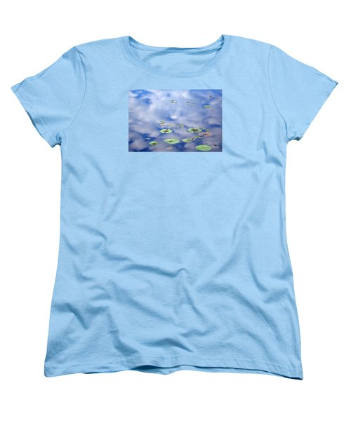 Sky And The Lily Pads Women's T-Shirt (Standard Cut) by Lila Fisher-Wenzel