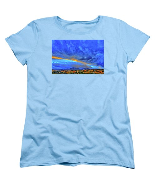 Women's T-Shirt (Standard Cut) featuring the photograph Sky Fall by Scott Mahon