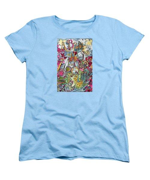 Sky Garden Women's T-Shirt (Standard Cut) by Claudia Cole Meek