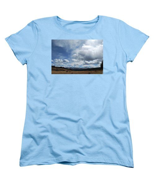 Women's T-Shirt (Standard Cut) featuring the photograph Sky Of Shrine Ridge Trail by Amee Cave