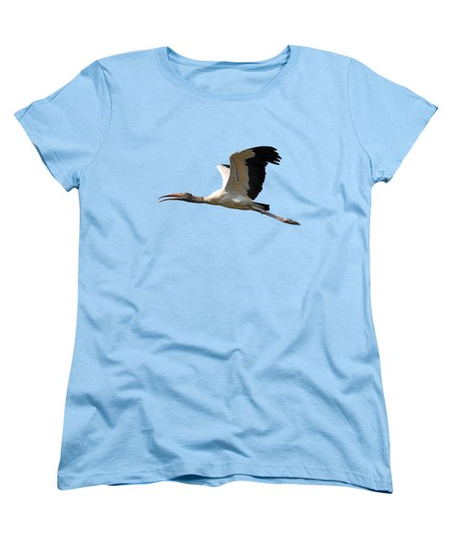 Sky Stork Digital Art .png Women's T-Shirt (Standard Cut) by Al Powell Photography USA