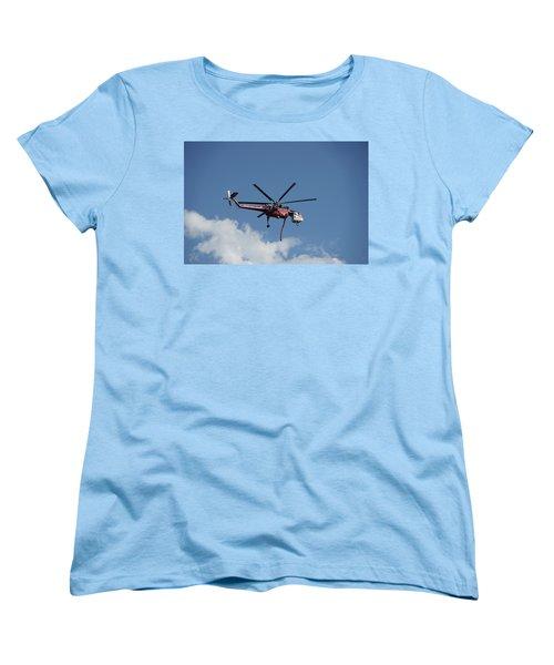 Skycrane Works The Red Canyon Fire Women's T-Shirt (Standard Cut) by Bill Gabbert