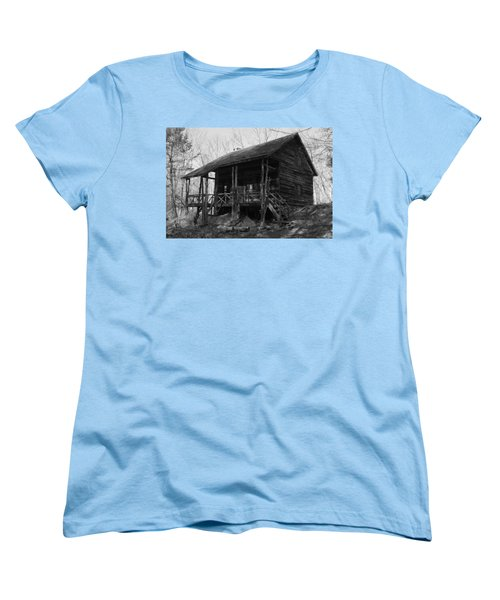 Women's T-Shirt (Standard Cut) featuring the photograph Slabsides In Spring by Jeff Severson