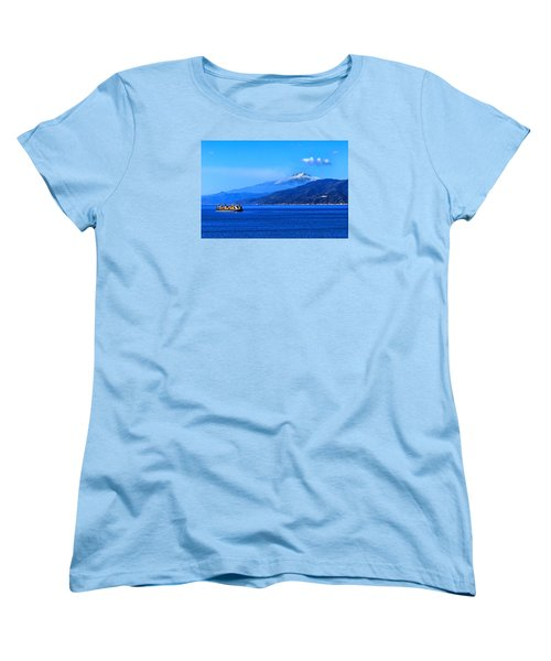 Sleeping Giant Women's T-Shirt (Standard Cut) by Laura Ragland