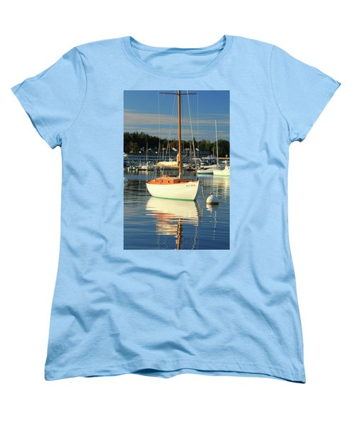 Women's T-Shirt (Standard Cut) featuring the photograph Sloop Reflections by Roupen  Baker