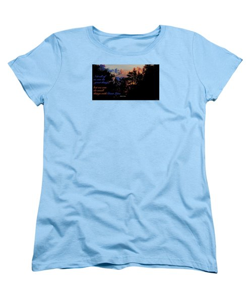Women's T-Shirt (Standard Cut) featuring the photograph Small Counts by David Norman