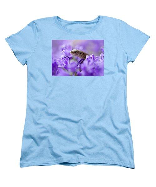 Small Lizard Women's T-Shirt (Standard Cut) by Jaroslaw Blaminsky