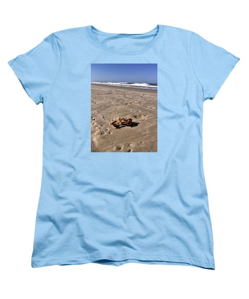 Women's T-Shirt (Standard Cut) featuring the photograph Smoking Kills Crab by Lisa Piper