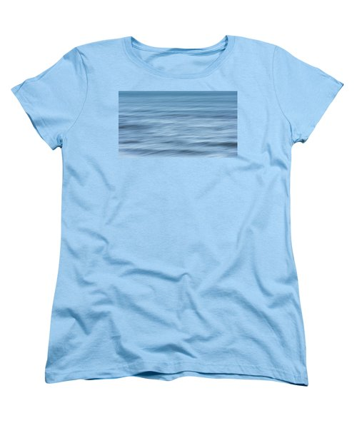 Smooth Blue Abstract Women's T-Shirt (Standard Cut) by Terry DeLuco