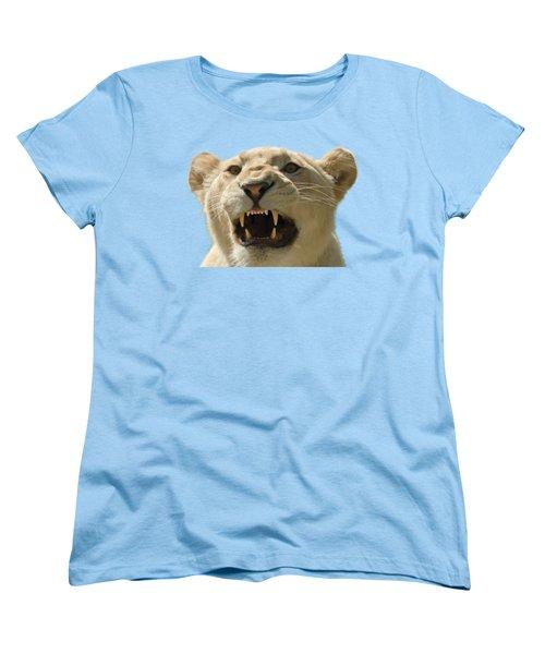 Snarling Lion Women's T-Shirt (Standard Cut) by Scott Carruthers