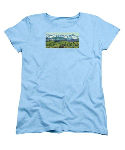 Sneffels Range Spring Women's T-Shirt (Standard Cut) by Dan Miller
