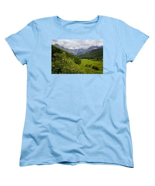 Sneffles Range Women's T-Shirt (Standard Cut) by Lana Trussell