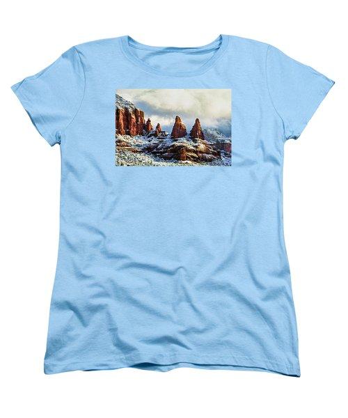 Snow 04-002 Women's T-Shirt (Standard Cut) by Scott McAllister