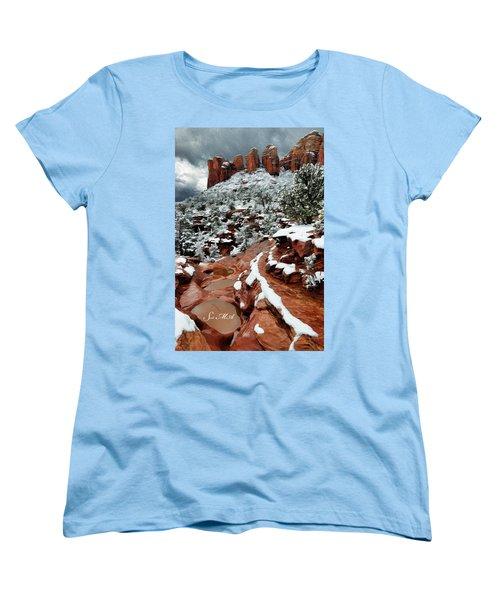 Snow 06-068 Women's T-Shirt (Standard Cut) by Scott McAllister