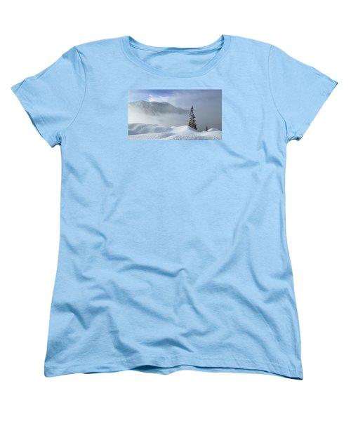 Snow And Silence Women's T-Shirt (Standard Cut) by Lynn Hopwood