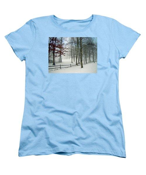 Snow Begins Women's T-Shirt (Standard Cut) by Betsy Zimmerli