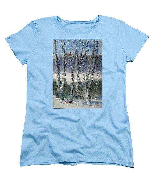 Snow Birch  Women's T-Shirt (Standard Cut)