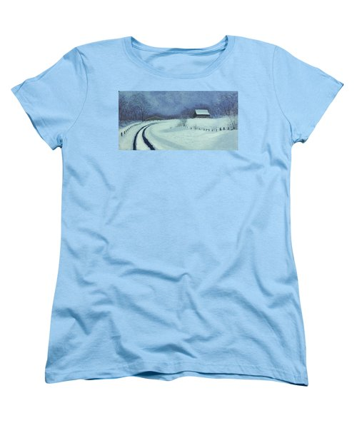 Snow Bound Women's T-Shirt (Standard Cut) by Garry McMichael