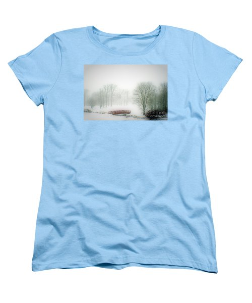 Women's T-Shirt (Standard Cut) featuring the photograph Snow Bridge by Polly Peacock