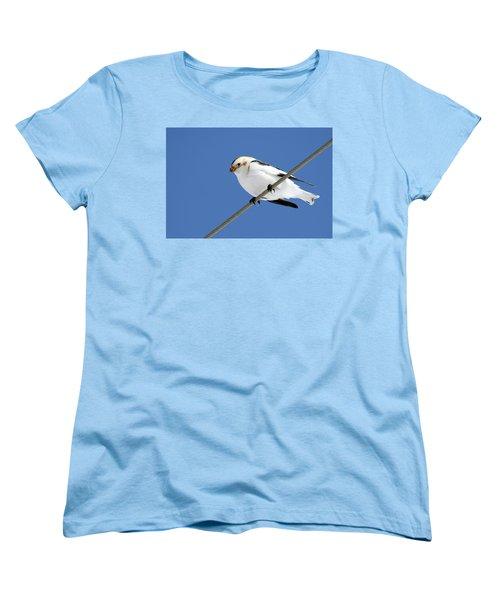 Snow Bunting Women's T-Shirt (Standard Cut) by Brook Burling