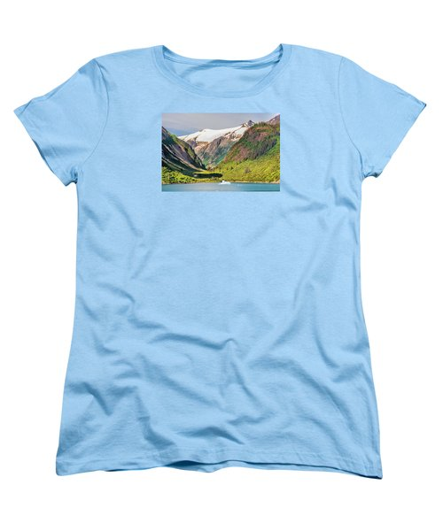 Women's T-Shirt (Standard Cut) featuring the photograph Snow Capped by Lewis Mann