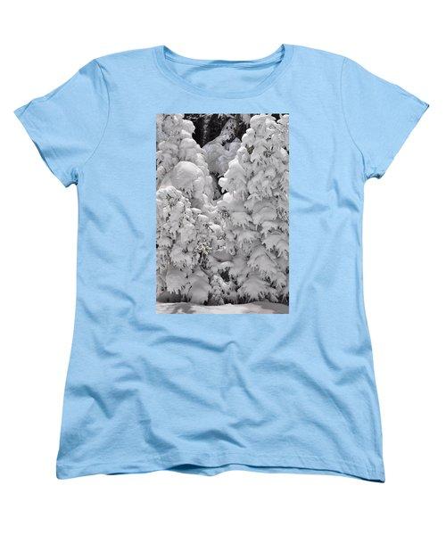 Women's T-Shirt (Standard Cut) featuring the photograph Snow Coat by Alex Grichenko