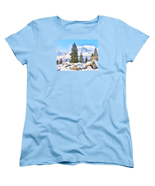 Snow Cool Women's T-Shirt (Standard Cut) by Marilyn Diaz