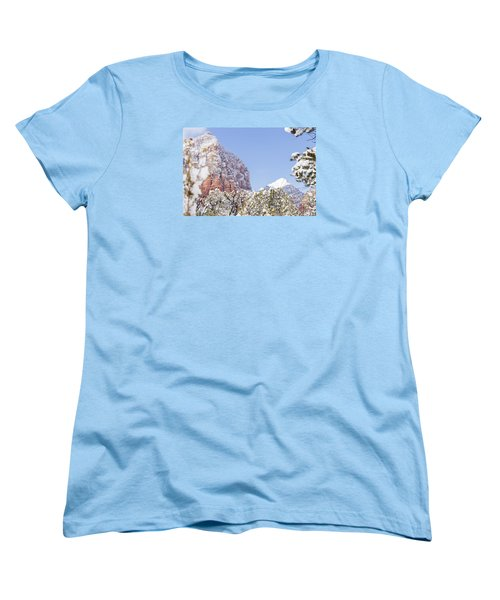 Snow Covered Women's T-Shirt (Standard Cut) by Laura Pratt