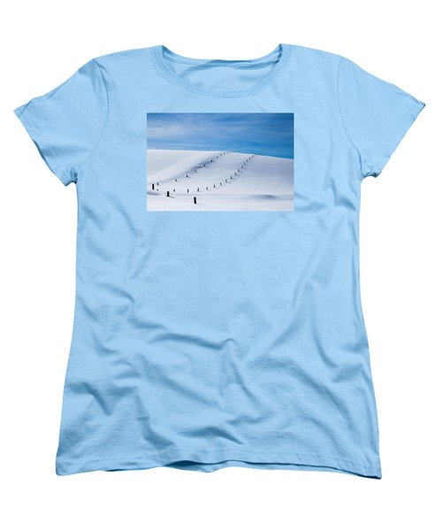 Snow Covered Pasture Women's T-Shirt (Standard Cut) by Sean Allen