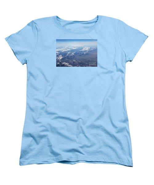 Snow Covered Rocky  Women's T-Shirt (Standard Cut) by Yumi Johnson