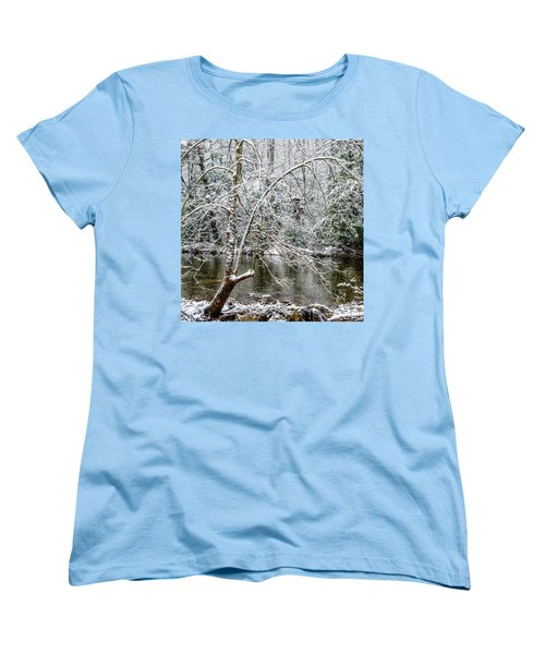 Women's T-Shirt (Standard Cut) featuring the photograph Snow Cranberry River by Thomas R Fletcher