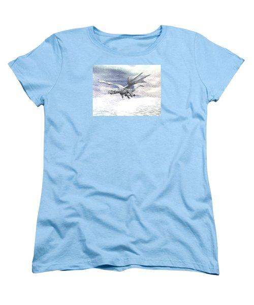 Snow Dragon Women's T-Shirt (Standard Cut) by Michele Wilson