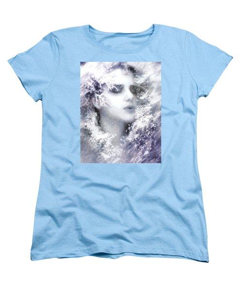 Women's T-Shirt (Standard Cut) featuring the digital art Snow Fairy  by Gun Legler