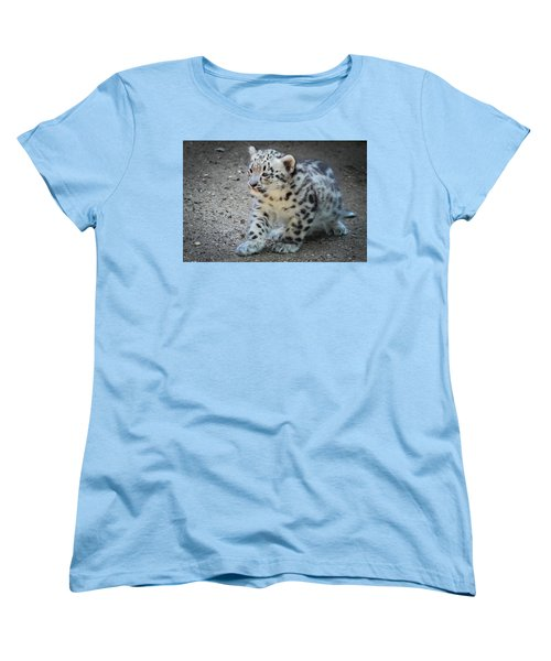 Snow Leopard Cub Women's T-Shirt (Standard Cut) by Terry DeLuco