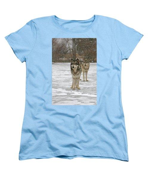 Snow Mates Women's T-Shirt (Standard Cut) by Shari Jardina