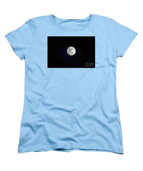 Snow Moon 4 Women's T-Shirt (Standard Cut) by Janie Johnson