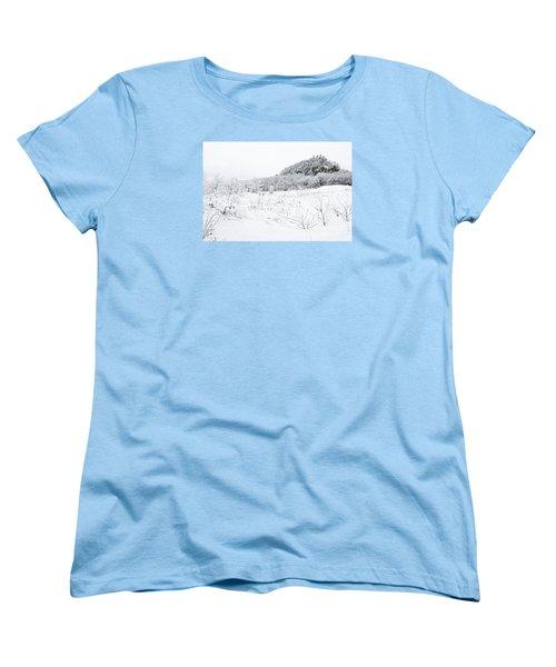 Women's T-Shirt (Standard Cut) featuring the photograph Snow Scene by Larry Ricker