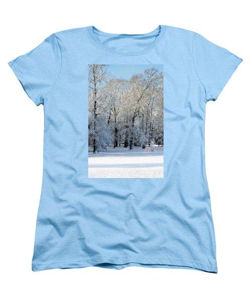 Snow Scene One Women's T-Shirt (Standard Cut) by Donna Bentley