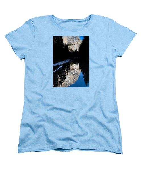 Women's T-Shirt (Standard Cut) featuring the photograph Snow Sneaks In by Lora Lee Chapman
