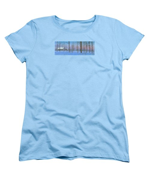 Women's T-Shirt (Standard Cut) featuring the painting Snow Spectacle by Mike Brown
