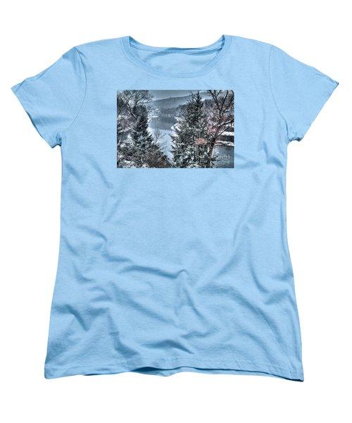 Snow Squall Women's T-Shirt (Standard Cut) by Tom Cameron