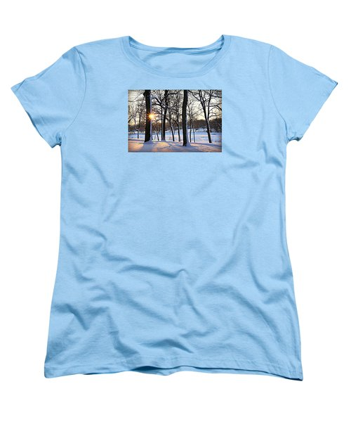 Snow Starred Grove Women's T-Shirt (Standard Cut) by Kathy M Krause