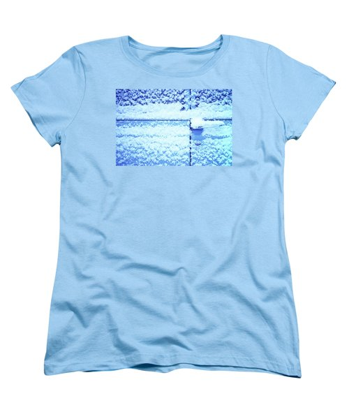 Women's T-Shirt (Standard Cut) featuring the photograph Snow Van 51 Chevy Panel by Laurie Stewart